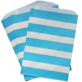 Turquiose Stripe Favor Bags Set of 24