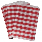 Red Gingham Favor Bags Set of 24