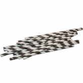 Black and White Striped Paper Straws Set of 23