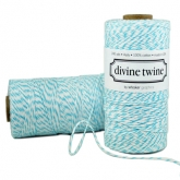 Aqua and White Bakers Twine