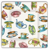 Tea Cup and Tea Pots Dinner Paper Plates
