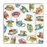 Tea Cup and Tea Pots Dessert Paper Plates