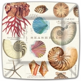 Shells Square Dinner Paper Plates