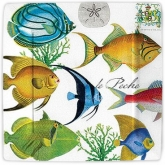 Tropical Fish Square Dinner Paper Plates
