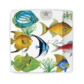 Tropical Fish Square Dessert Paper Plates