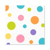 Mix of Color Dots Beverage Paper Napkins