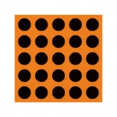 Just Dots Black & Orange Beverage Napkins