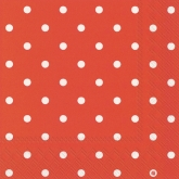 Red and White Small Polka Dots Luncheon Paper Napkins