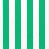Green and White Wide Stripes Luncheon Napkins