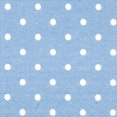 Blue Polka Dot Luncheon Paper Napkins