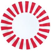 Red and White Stripe Paper Plates