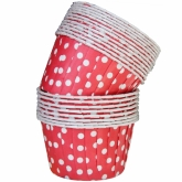 Red and White Polka Dot Small Paper Squeeze Cups Set of 20