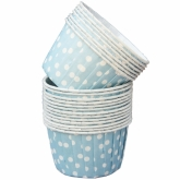 Light Blue and White Polka Dot Small Paper Squeeze Cups Set of 20