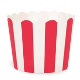 Red and White Stripe Baking Cups
