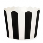 Black and White Stripe Baking Cups
