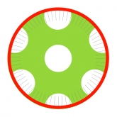 Lime Green and White Holiday Dessert Paper Plates