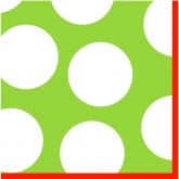 Lime Green and White Polka Dot Holiday Luncheon Paper Napkins