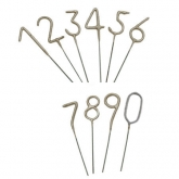 Number Sparkler Wand Candles