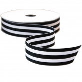 Black and White Grossgrain Ribbon 5 Yards