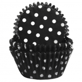 Black and White Poika Dots Baking Cups