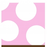 Baby Pink and White Polka Dot Beverage Paper Napkins