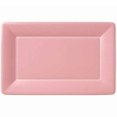Soft Pink Zing Large Rectangular Cafe Paper Plates