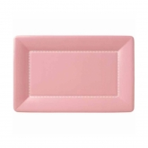 Soft Pink Zing Small  Rectangular Cafe Paper Plates