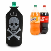 Skull and Bones Felt Bottle Cover