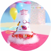 Birthday Princess Glitter Maribou Hat