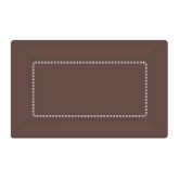 Chocolate Brown Small Cafe Paper Plates