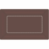 Chocolate Brown Large Cafe Paper Plates