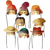 Roaring Twenties Masks Set of 8