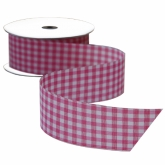 Pink Gingham Ribbon 8 Yards