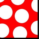 Red and White Large Polka Dot Luncheon Paper Napkins