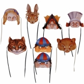 Alice in Wonderland Masks Set of 8