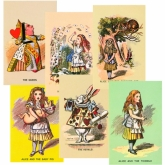 Alice in Wonderland Postcards Set of 12
