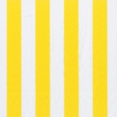 Yellow and White Wide Stripes Luncheon Napkins
