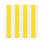 Yellow and White Wide Stripes Beverage Napkins