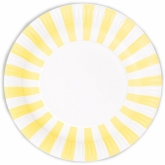 Yellow and White Stripe Paper Plates