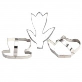 Tea Party Cookie Cutter Set of 3