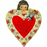 Heart Lola Paper Doll Valentine Card