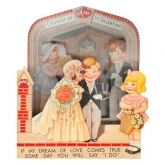 Bride and Groom Valentine Card