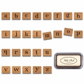 Alphabet Lowercase Rubber Stamps