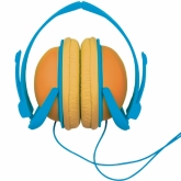 Orange Blue FunkyFonic Headphones