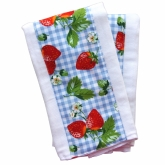 Strawberry Retro Set of 2 Burpies
