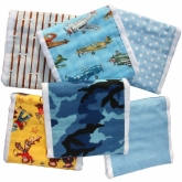 Boy's Retro Burpies Set of 6