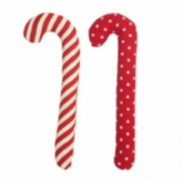 XL Dot and Stripe Set of 2 Plush Candycanes