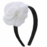 Chanelie Black and White Crochet Headband