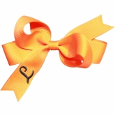 Orange Monogrammed Initial Ribbon Bow
