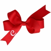 Red Monogrammed Initial Ribbon Bow